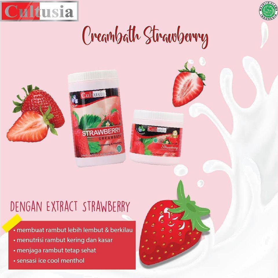 Cultusia Creambath Strawberry 500ml Shopee Indonesia