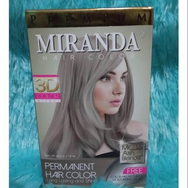 Semir Rambut Miranda Ash Blonde / Abu-abu   Shopee Indonesia