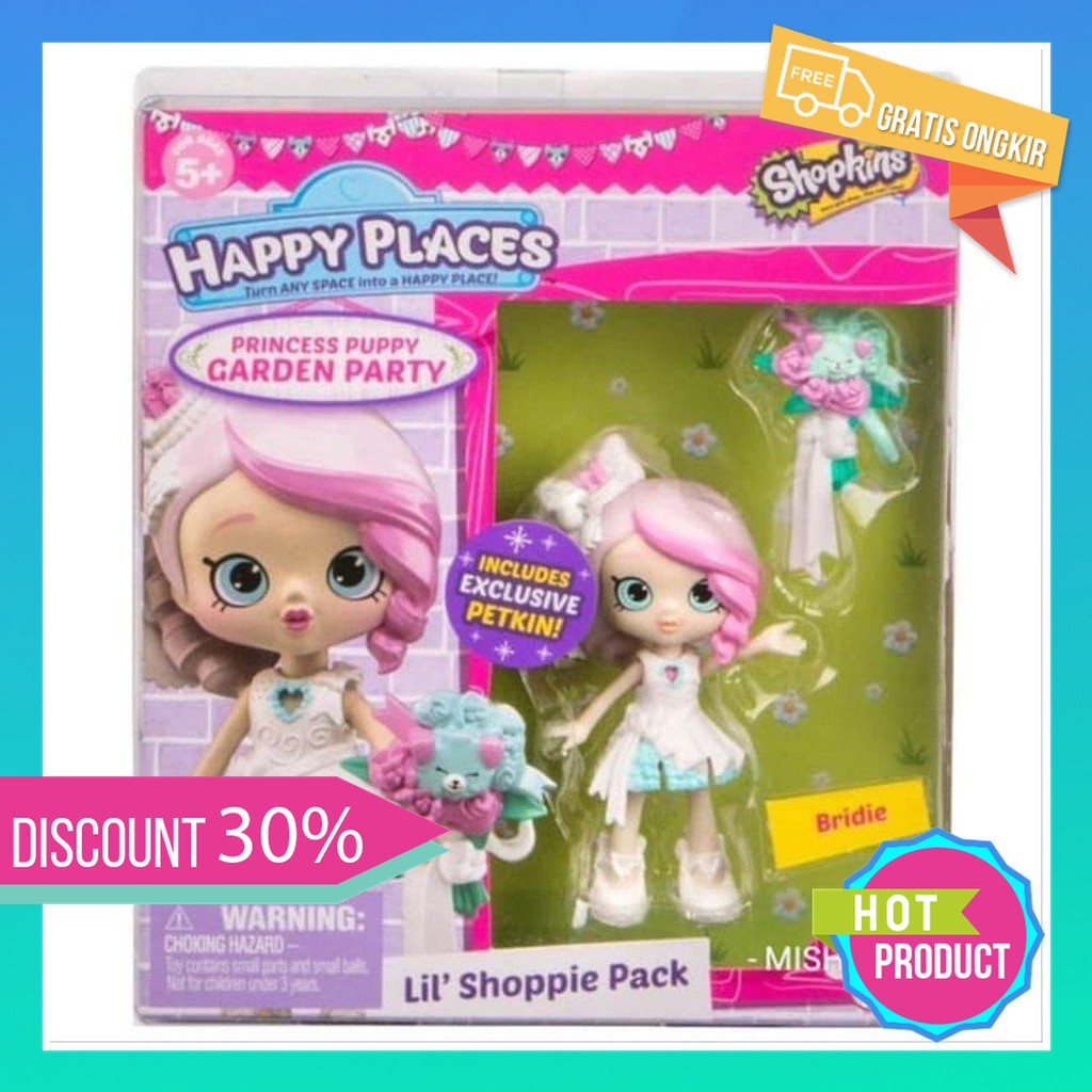 Happy Places Bridie Shoppies Shopkins Doll Princess Puppy Garden Party Murah Original Berkualitas Shopee Indonesia