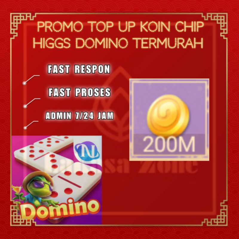 [ SPayLater ] Promo Top Up Koin Chip Higgs Domino Termurah - Chip Ungu MD 200M