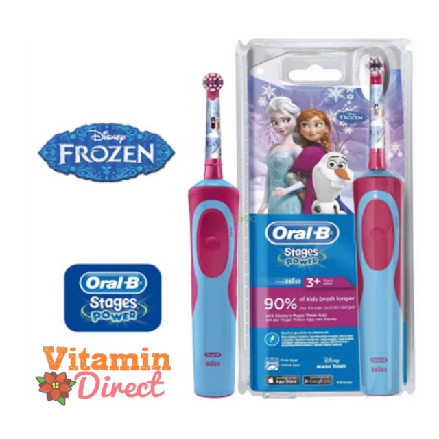 Oral B Stages Power 5+ Frozen Kids Electric Toothbrush   sikat gigi  elektrik anak Oral B  66d4d4d375
