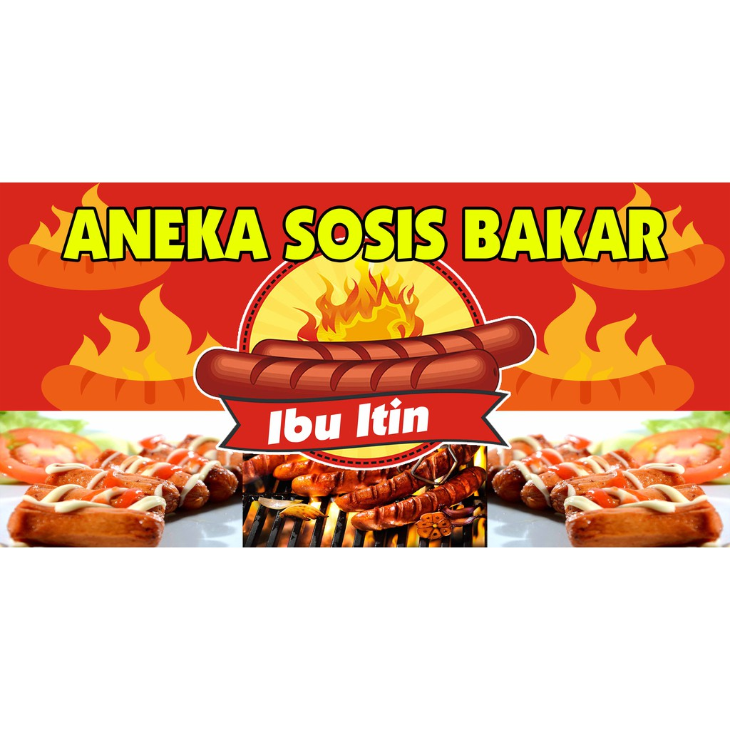 cetak spanduk sosis bakar ukuran 200x100 cm shopee indonesia cetak spanduk sosis bakar ukuran 200x100 cm