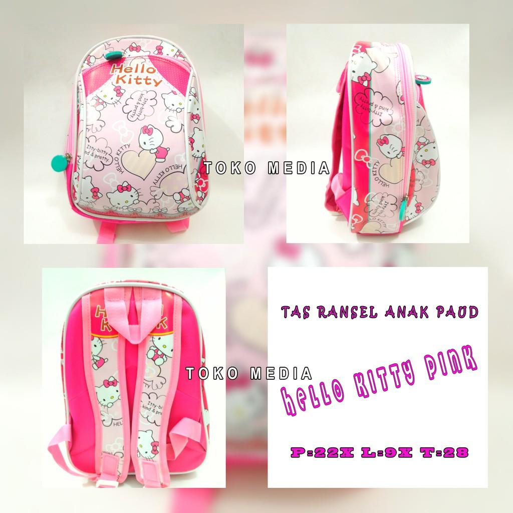 Hello Kitty Bow Rucksack M Adinata Tas Sekolah Anak Ransel Transformers Power Backpack L Bb Shopee Indonesia