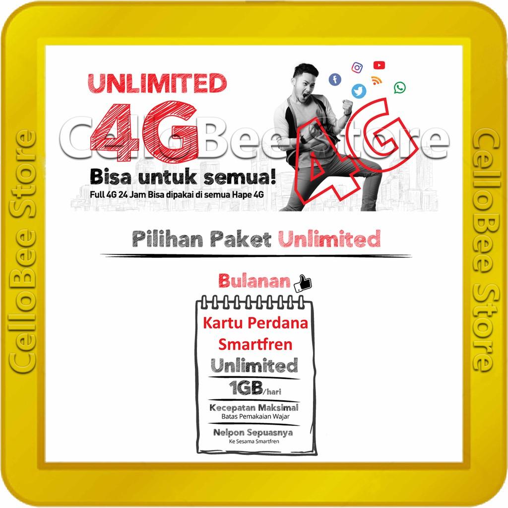 Kartu Perdana Smartfren 4g Evo Kuota 24 Gb 9gb 24jam 11gb Malam Gsm 22 4gb Chatting 24gb Shopee Indonesia