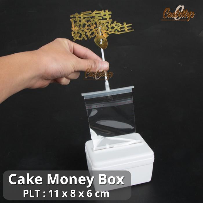 Kotak Kue Tarik Uang Cake Money Box Untuk Cake Ultah Anniversary dll
