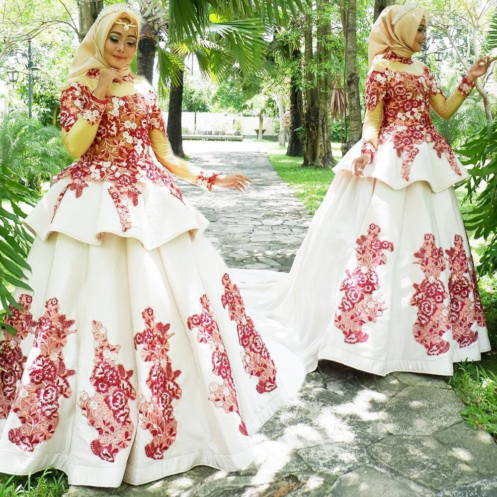 Gaun Pengantin Belimbing Modern Jaguard Baju Gaun Pernikahan Wedding Dress Murah