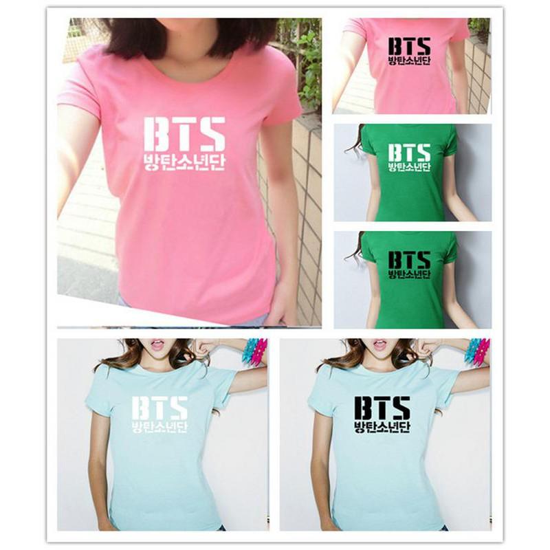 Kaos T-Shirt Lengan Pendek Gaya Kpop BTS Bangtan Boys untuk Unisex | Shopee Indonesia