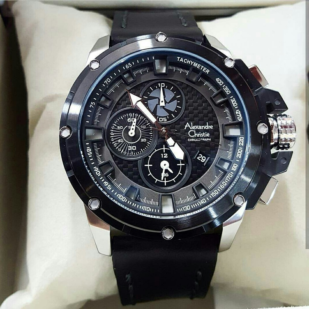 Alexandre Christie Men 6441 Mc Black Blue Original Jam Tangan Pria Shopee Indonesia