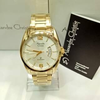 Alexandre christie original 8289MD jam tangan pria alexandre christie klasik original