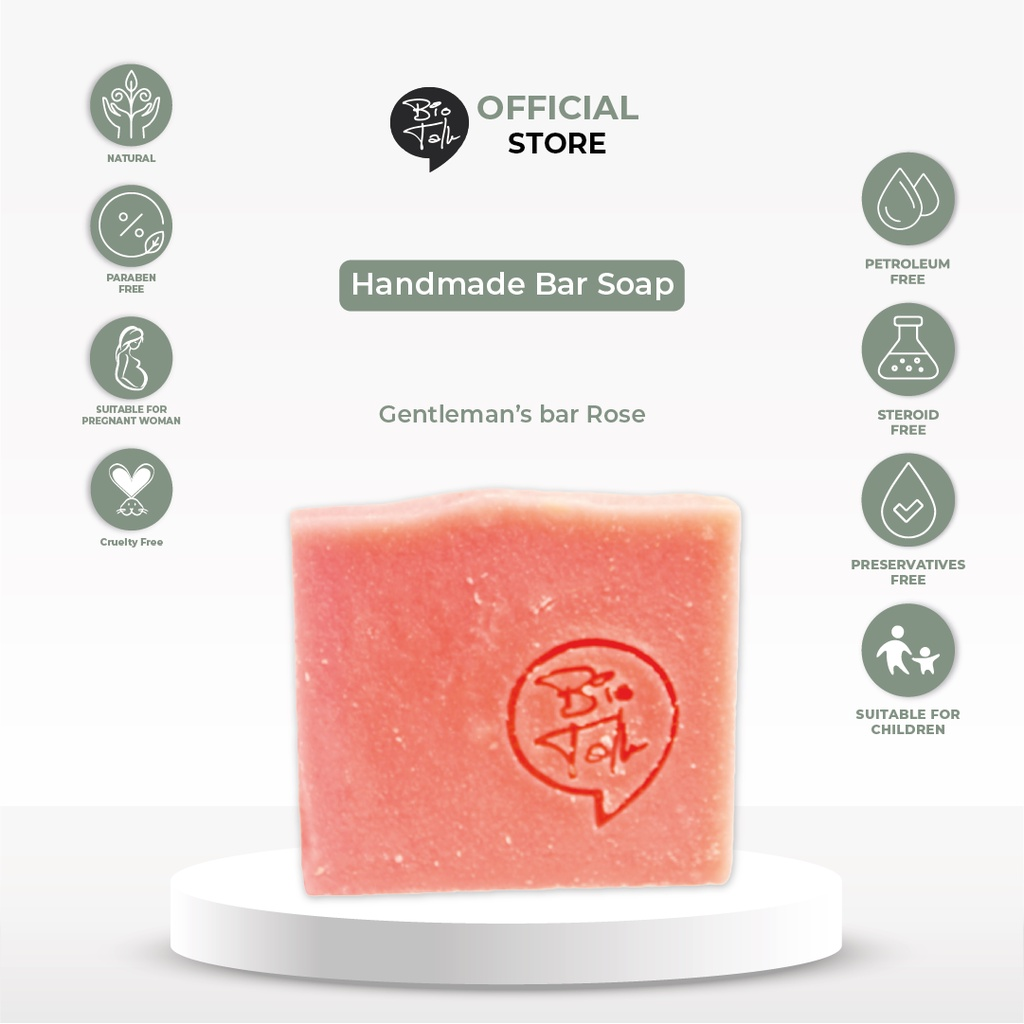 BioTalk Sabun Shampoo Natural Herbal | Gentleman's Bar Shampoo Soap | Kulit Normal |120 gram-4
