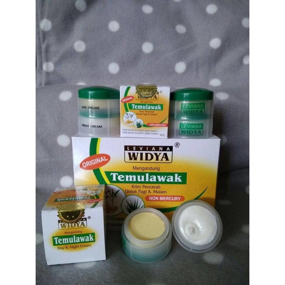Cream Temulawak Widya Leviana Bpom Day Night Shopee Indonesia Krim Pot Kuning Original Holo Emas Super