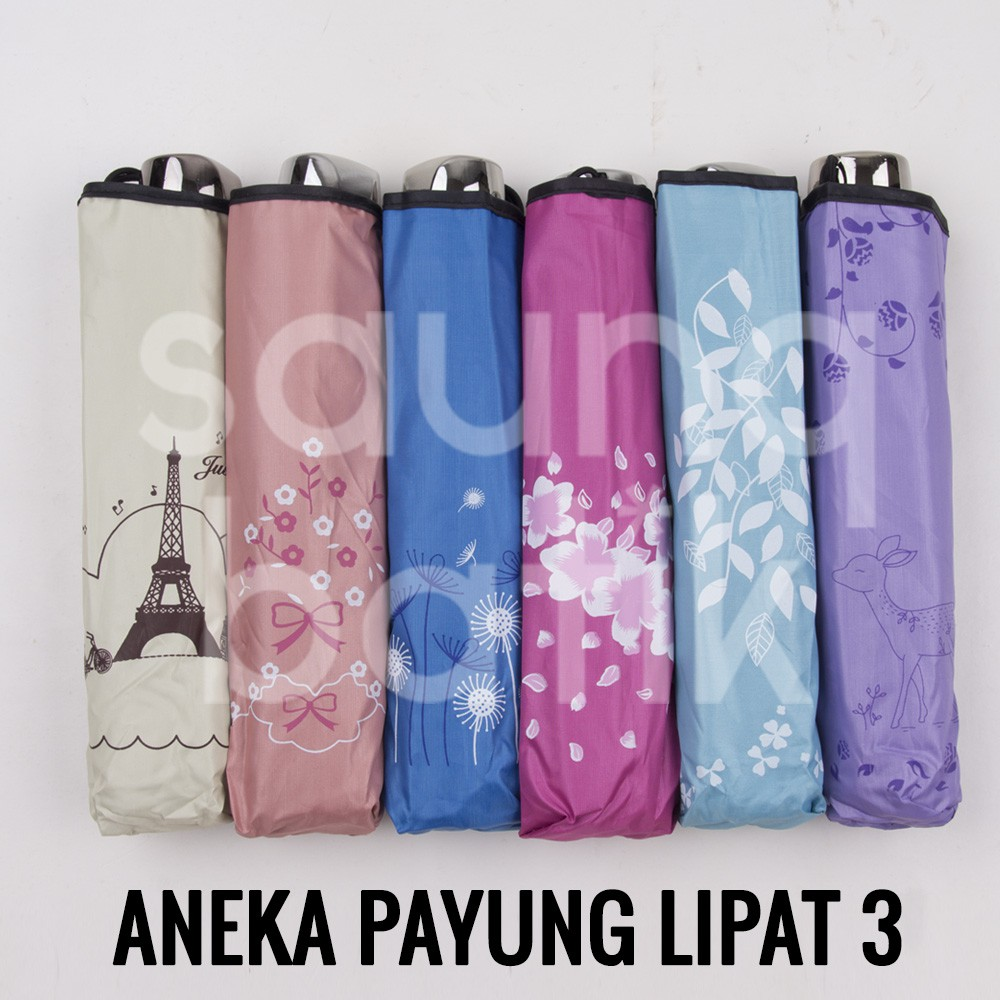 Free Bubble Dus Payung Lipat 3 Dengan Uv Protection  Polos Warna Silver Dalam Lucu Kupu Shopee Indonesia