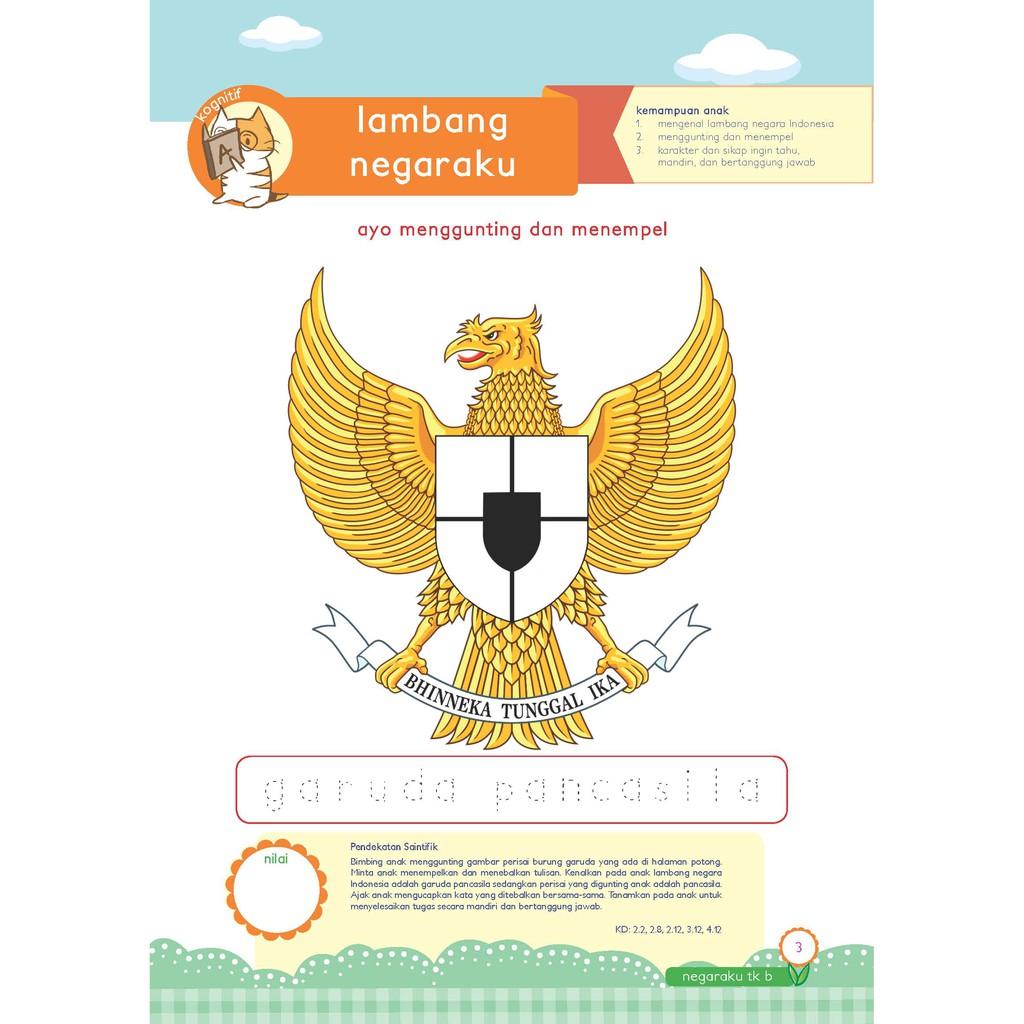 Buku PAUD TK Tematik K13 Kelompok B Tema Negaraku