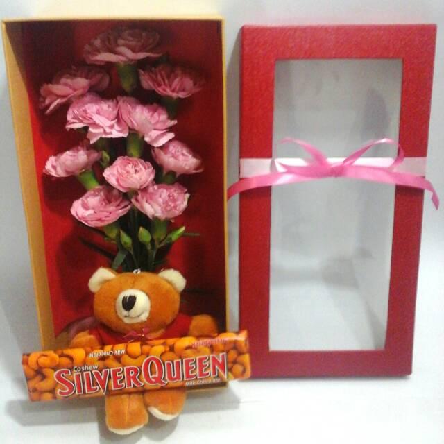 Kado Valentine Anniversary Ulangtahun Buket Mawar Bloom Box Exclusive  -30x15x8 Cm 6  7  8  9 Tangkai  8bc62bc4d5