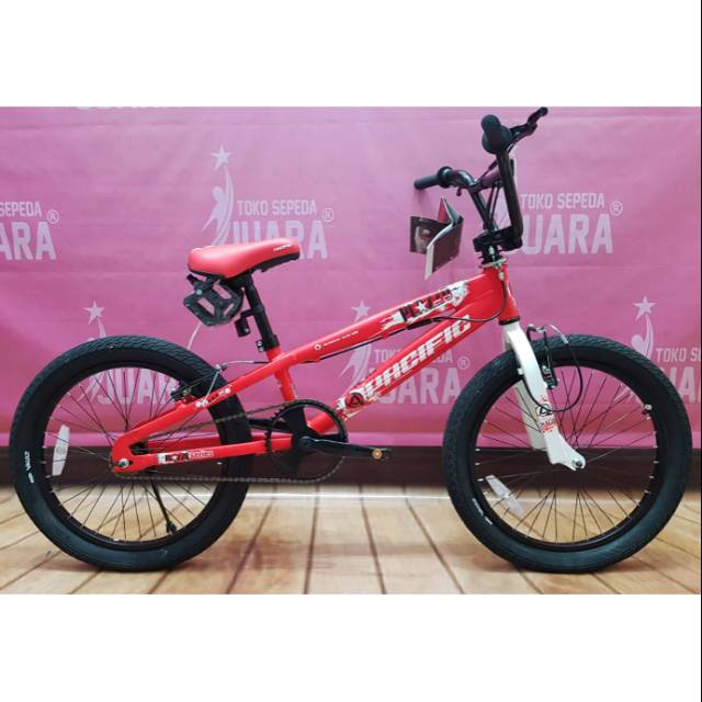 SEPEDA BMX PACIFIC PLAZZO 2.0 ROTOR MERAH STSNG FREESTYLE DIPUTAR 360 DERAJAT | Shopee Indonesia