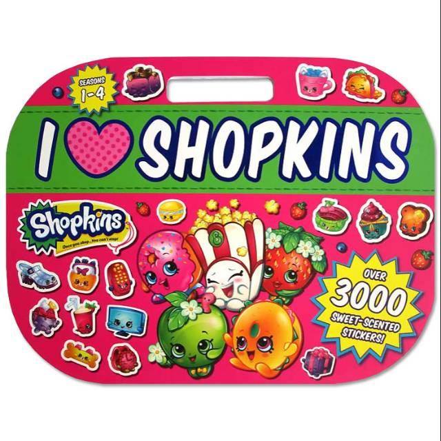 Buku Stiker Love Shopkins Sticker Activity Book With Over 3000