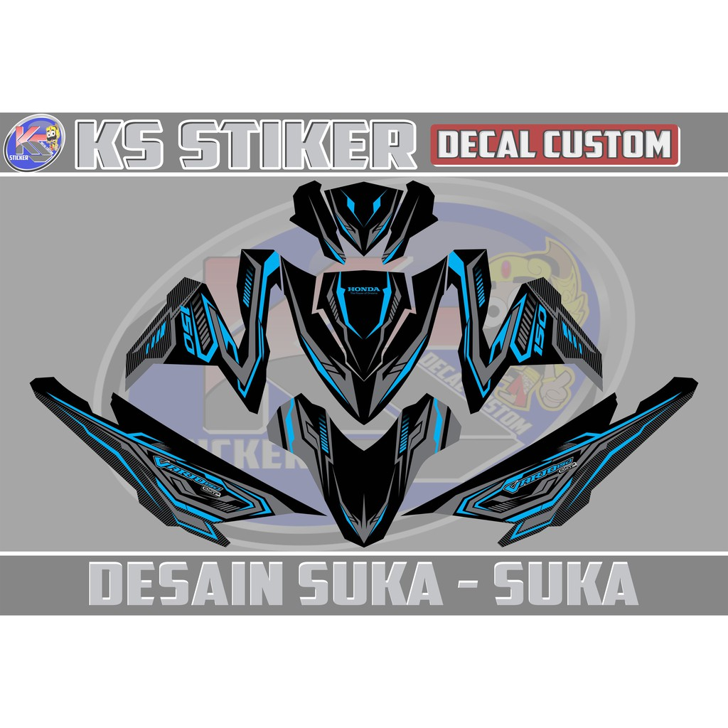 Decal stiker honda cbr250rr icon drift battle shopee indonesia