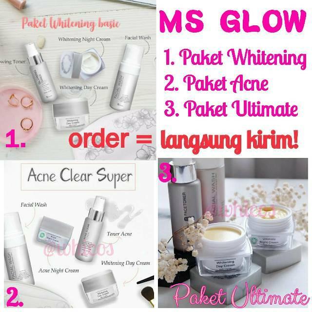 Ready Termurah Ms Glow Paket Face Series Whitening Ultimate Acne By Camtik Skincare Shopee Indonesia