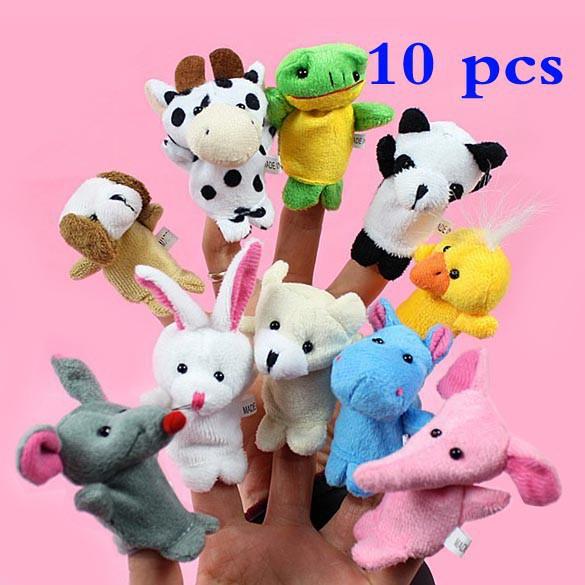 Mainan Berupa 10 Buah Boneka Jari Bentuk Binatang Biologis Motif Kartun 53ee7d0cd3