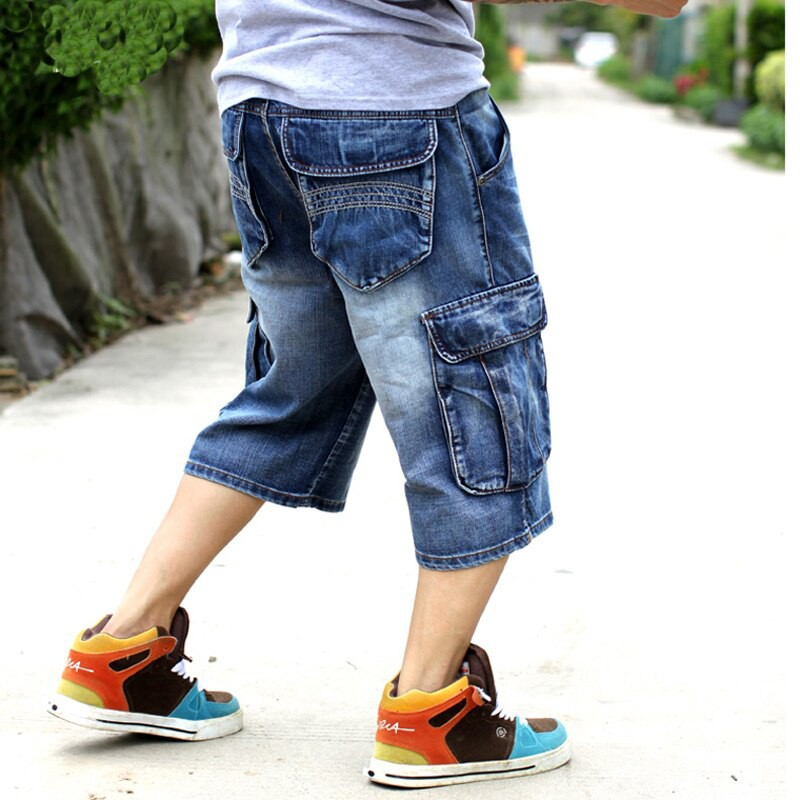 2019 New Brand Mens Big Size Loose Baggy Short Jeans For Men Boy S Hip Hop Shopee Indonesia
