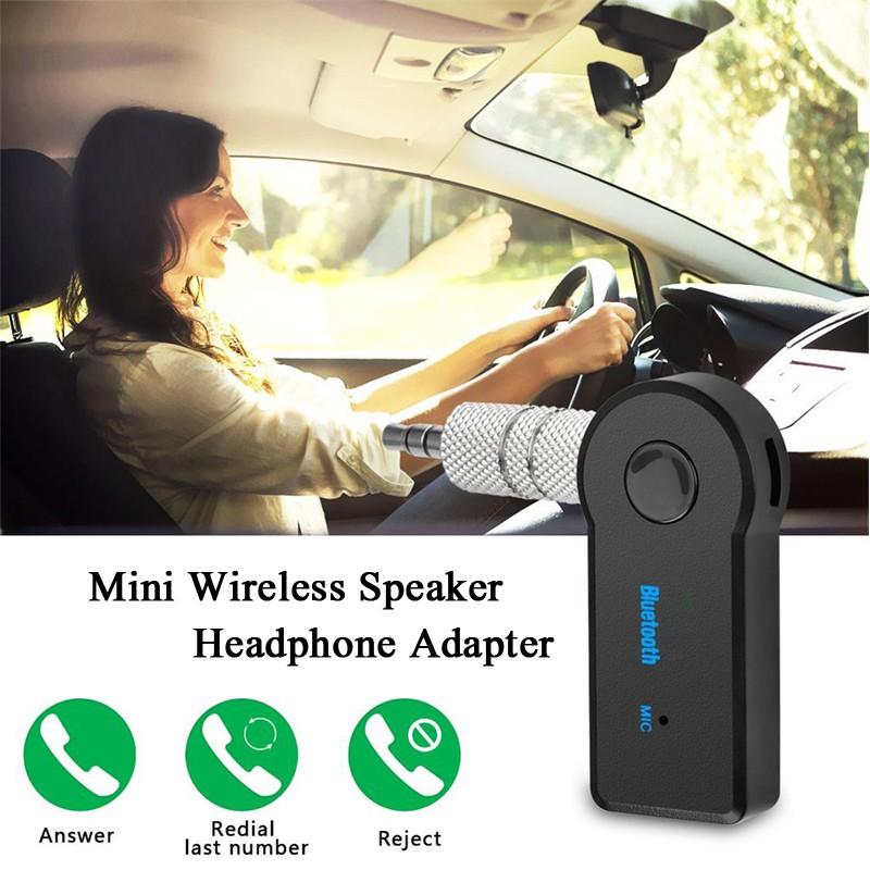 3.5mm AUX Car Wireless Bluetooth Hands Free Speaker Headphone Receiver Adapter