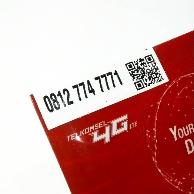 Nomor Cantik SIMPATI 11Digit 11Angka 4G TELKOMSEL LIMITED EDITION Triple Panca TUJUH Mewah 774 7771 |