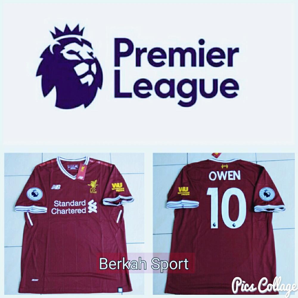 b83bbe355 Cantik Jersey Liverpool FC Home Full Patch BPL dan Cetak Nama nomor Suka  suka Official HOT SALE