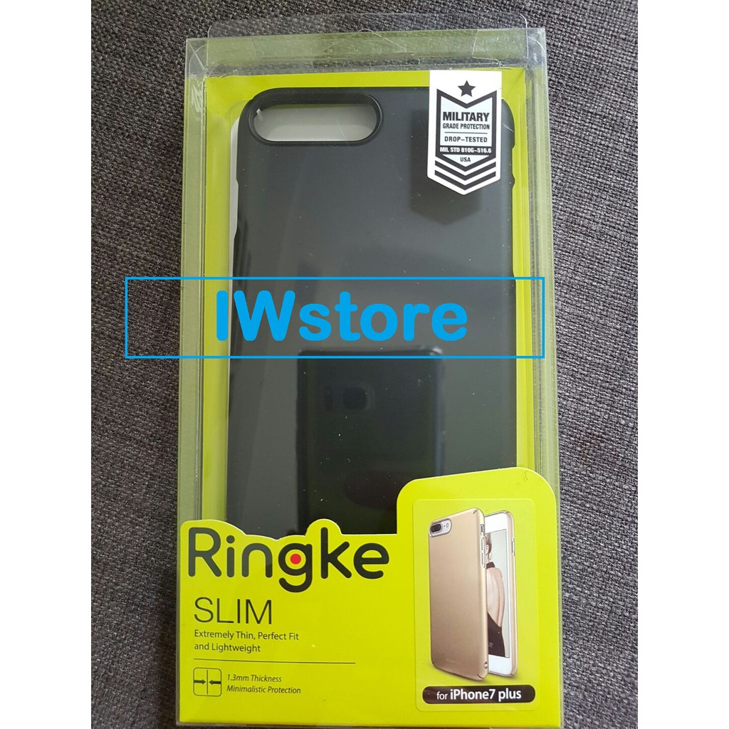 Rearth Iphone 7 Plus Slim Gloss Black Shopee Indonesia