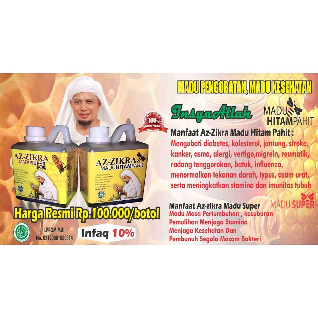 AZ ZIKRA AZZIKRA MADU HITAM PAHIT AZ ZIKRA 500 gram ORIGINAL ASLI | Shopee Indonesia