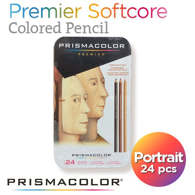 Pensil Warna PRISMACOLOR Premier Portrait Set Soft Core 24 Count, Skin Color
