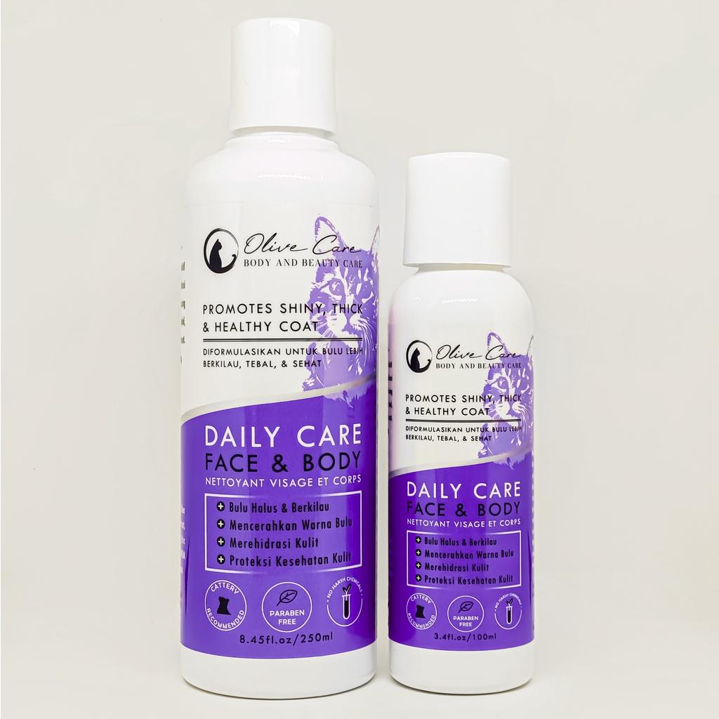 Olive Care Shampo Kucing Daily Care FACE & BODY - Bebas Noda & Cerahkan Warna Bulu