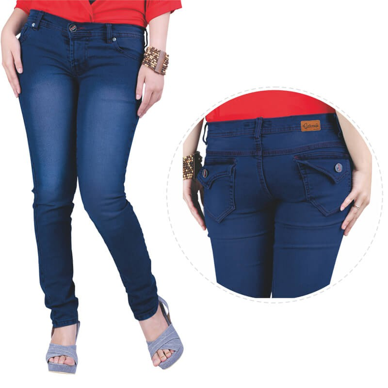 Celana casual wanita Jeans Biru Catenzo NU 064 murah asli ori original 5e6991ac3c