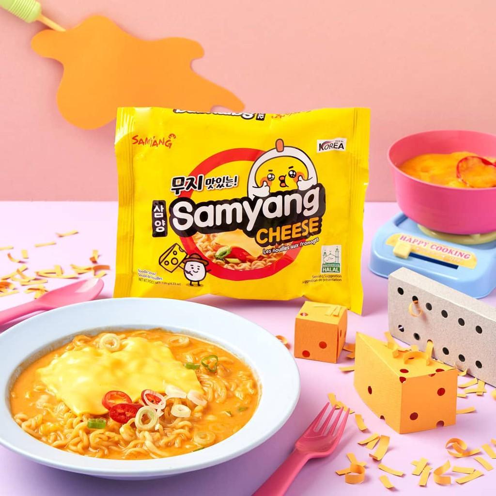 Samyang Quattro Cheese Flavor Ramen 120g Shopee Indonesia