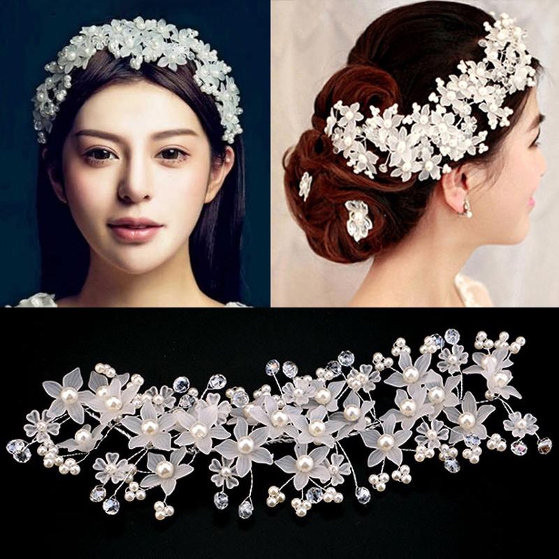 20 Pcs Bridal Wedding Prom Crystal Pearl Diamante Flower Hair Pins Clips Grips