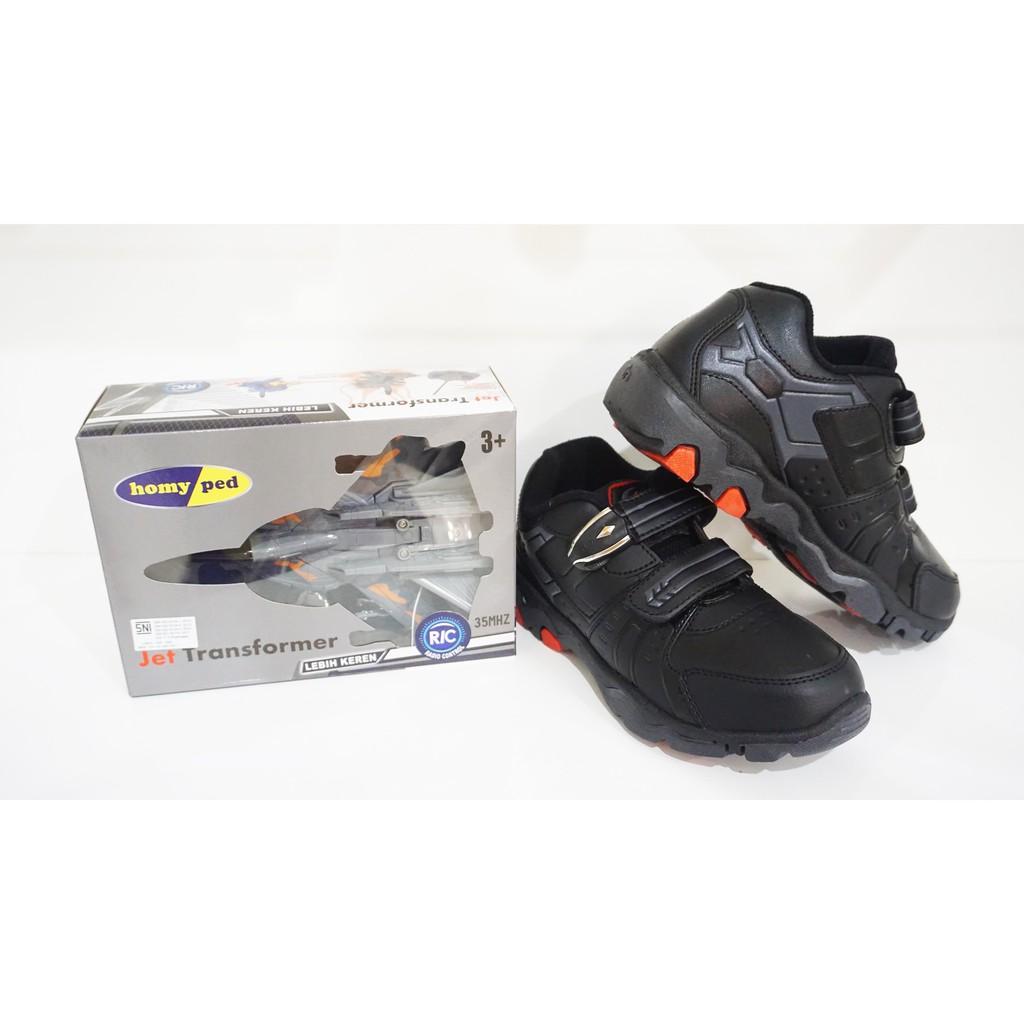 Sepatu Sekolah Homyped Marco 03 Berhadiah Shopee Indonesia Futsal Anak Guardiola 01 Black Hitam 35