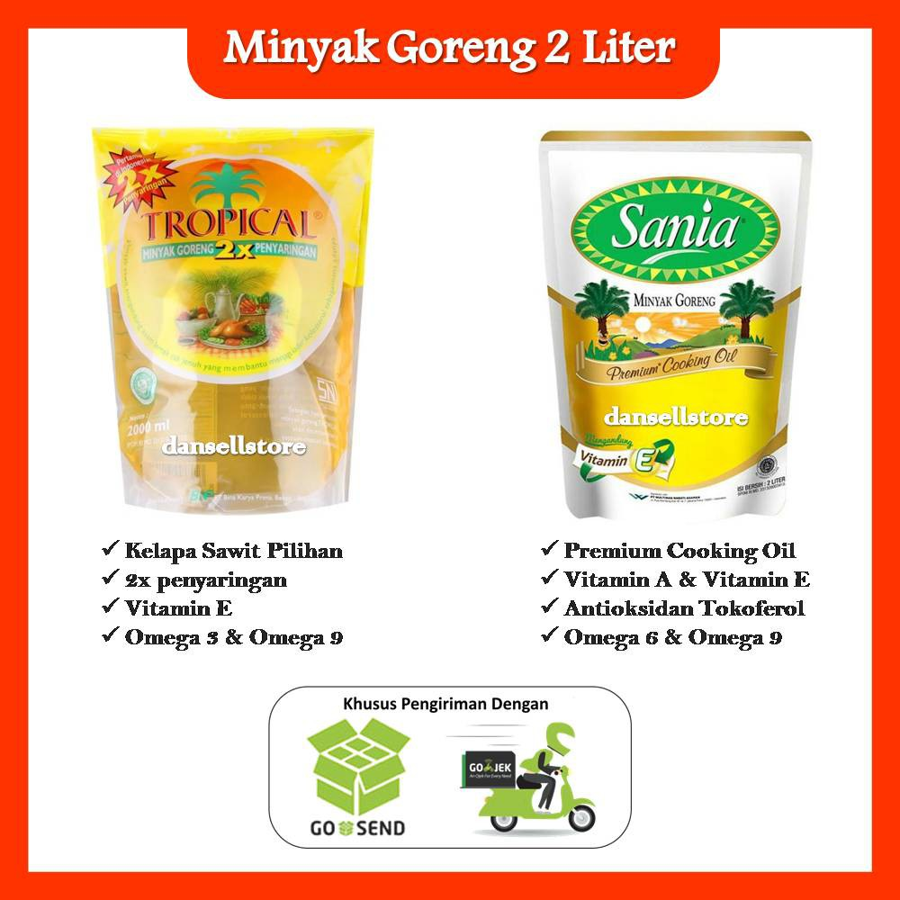 Minyak Goreng Tropical Sania 2 Liter Kelapa Sawit Premium Cooking