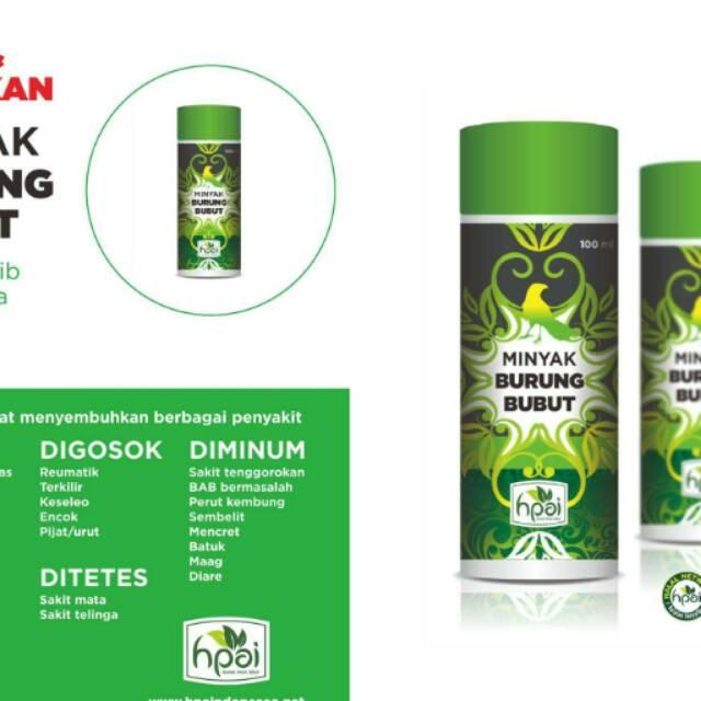 Minyak Burung Bubut Minyak Herbal Sinergi Hpai Shopee Indonesia