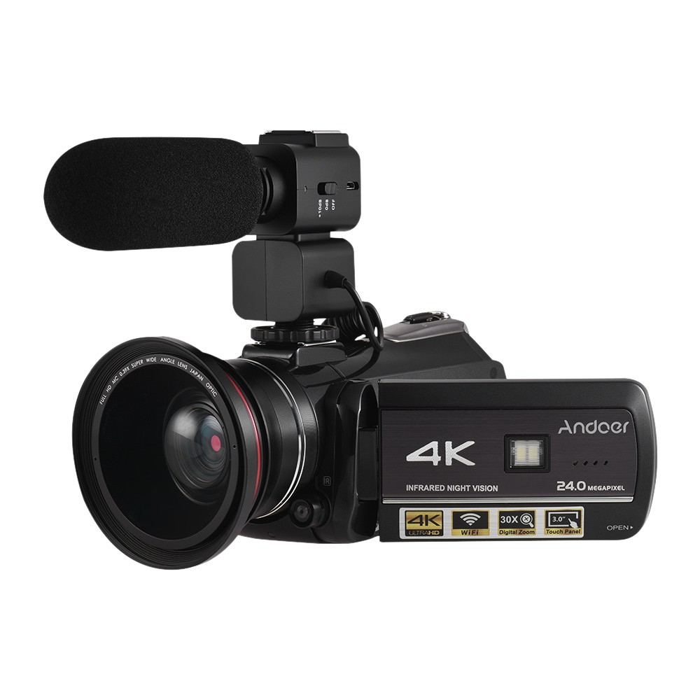 Andoer Ac3 Kamera Camcorder Dv Digital 24mp 4k Uhd 24mp Dengan Night Vision Zoom Wifi Shopee Indonesia
