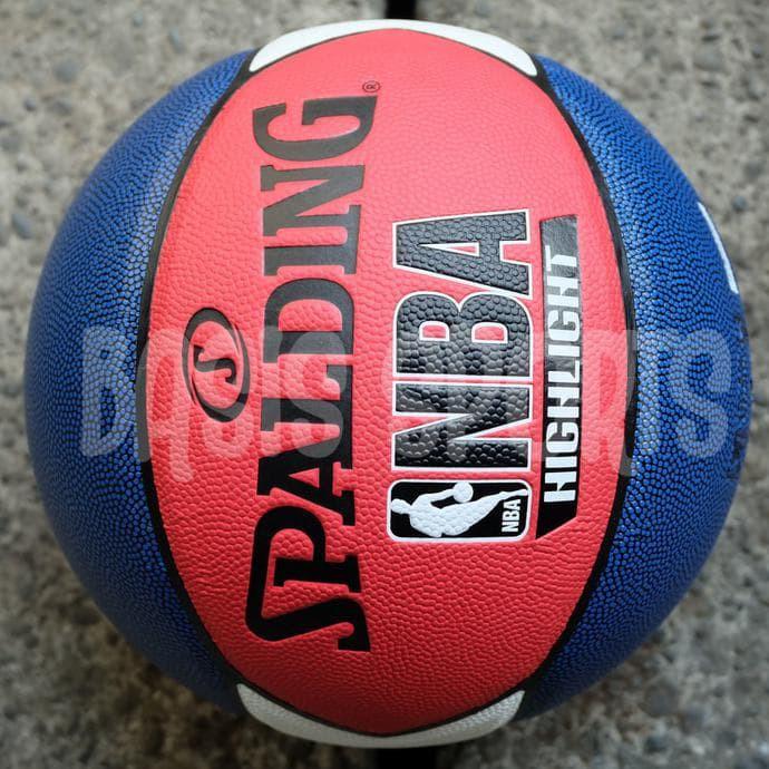 BOLA BASKET SPALDING NBA HIGHLIGHT COMPOSITE MARINE RED WHITE ... 67cc1ec5983cf