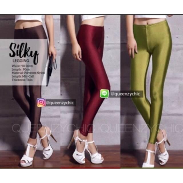 Legging Licin Polos Legging Wanita Lp 04 Legging Terlaris Fashion Wanita Celana Murah Shopee Indonesia