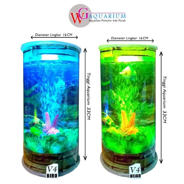 Desain Akuarium Ruang Tamu  ukuran jumbo aquarium mini plus mesin aerator oksigen wg aquarium tipe v4