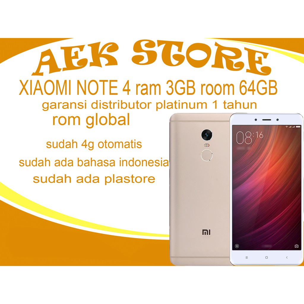 Xiaomi Redmi Note 2 16gb Garansi Distributor 1 Tahun Shopee Mi 5 Pro Ram 4gb Rom 128gb Indonesia