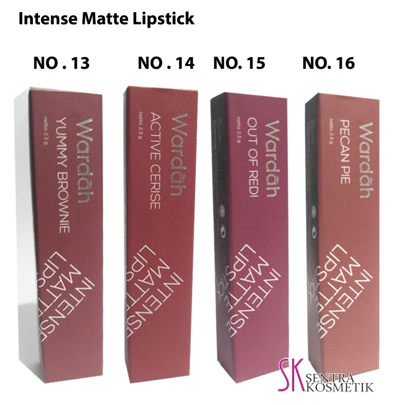 New Color 13 16 Wardah Intense Matte Lipstick Shopee Indonesia
