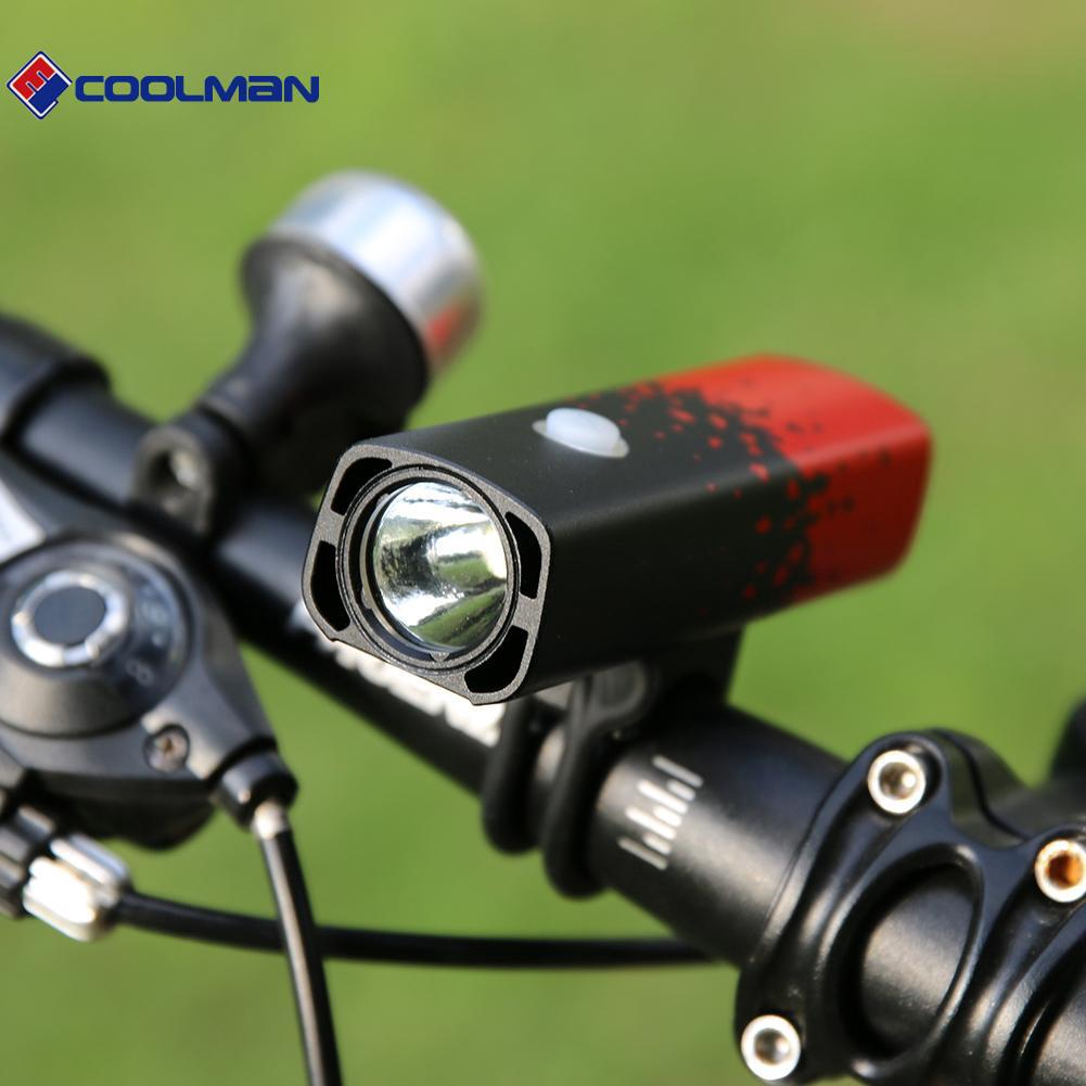 USB Rechargeable Mountain Bike MTB Bicycle LED Head Front Light Lamp Cycle 300LM