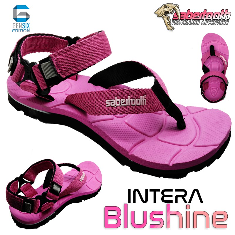 SABERTOOTH Sandal Gunung Traventure Intera Blushenta Size 32 s d 47 Hitam Tali P FASHION CEWEK T5B3