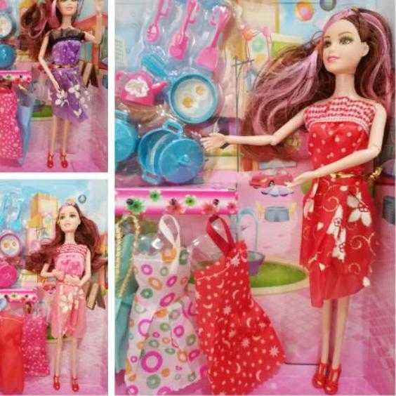 Tren Terbaru Mainan Boneka Barbie Set Bisa Ditekuk Berbie Doll Baju Ganti Shopee Indonesia