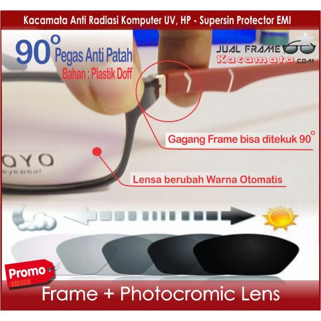 Frame Kacamata Clip On + Lensa MINUS BACA Frame Pria Wanita Kacamata Hitam  Minus Korea Fashion Murah  4d7e67296f