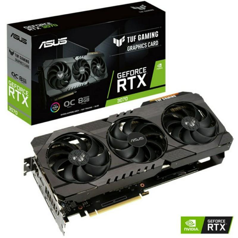 ASUS RTX 3070 TUF OC GAMING 8GB X3 GDDR6 RTX3070 8G VGA CARD NVIDIA NON LHR