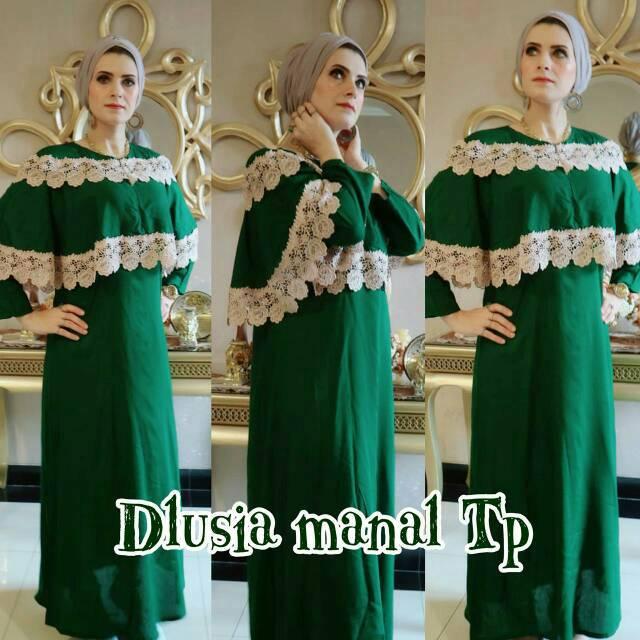 Maxi dress arab/india/dubai/turki dolce dalila polka daster busui tangan panjang