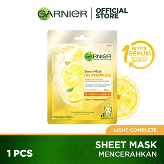 Garnier Serum Mask Light Complete Skin Care (Masker Wajah Untuk Kulit Cerah Cepat) thumbnail